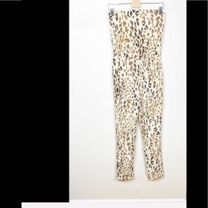 WAYF Where Are You From XS Cheetah Print Romper